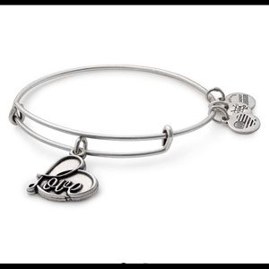 "ALEX AND ANI ""Love"" Charm Bangle"